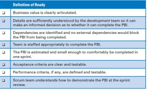 PBI Definition of Ready